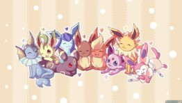 Cute Pokemon Eeveelution Wallpaper