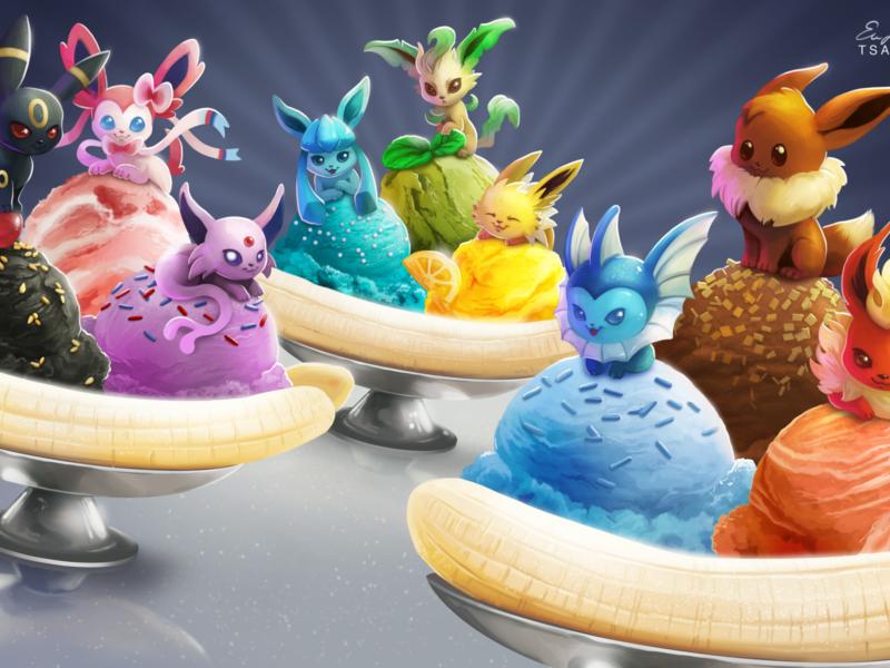 Icecream Pokemon Eeveelution Wallpaper
