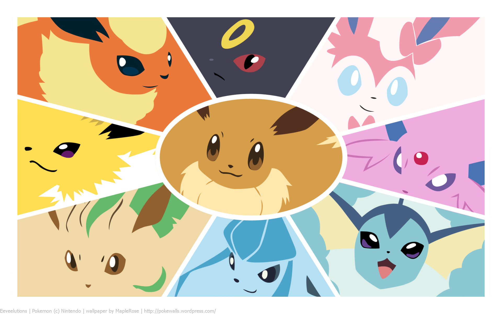 Pokemon Eeveelution Wallpaper Faces Download Free Hd Wallpapers