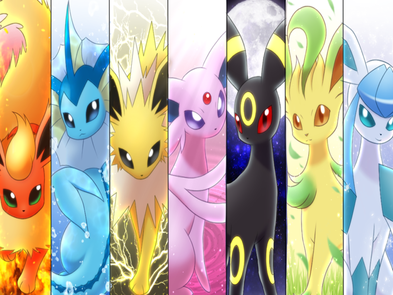 Pokemon Eeveelution Wallpaper Side By Side