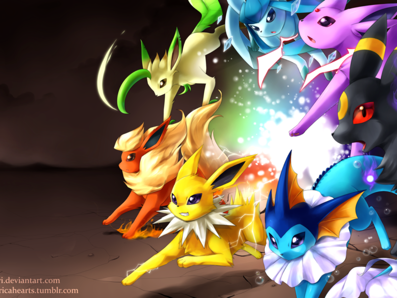 Ready To Attack Pokemon Eeveelution Wallpaper Power