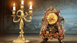 Clock And Lamp Beauty And The Beast 2017 Wallpaper