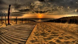 Beach Sand Sunset