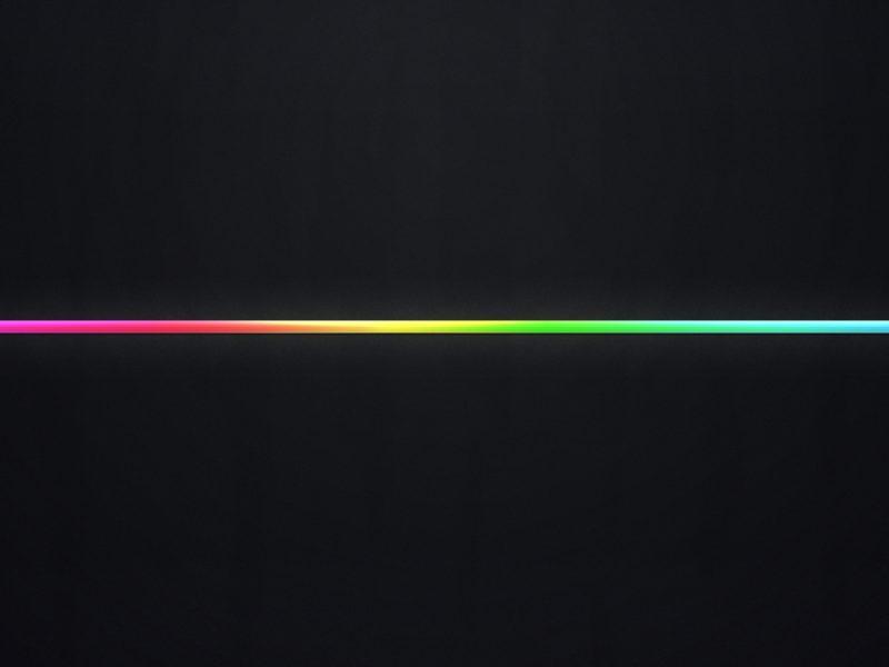 Black And Rainbow Line