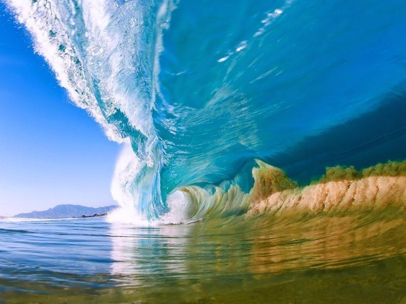 Natural Summer Ocean Wave Desktop Hd Wallpaper
