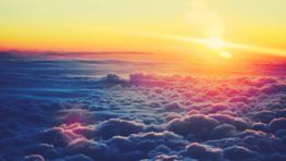 Sunset Over Clouds Wallpaper