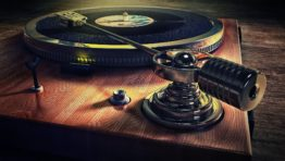 Old Style Record Deck Music Background