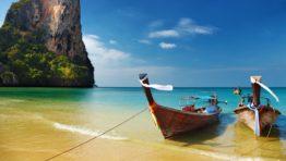 Thailand Tropical Beach Boats Oceans