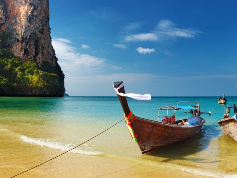 Thailand Tropical Beach Boats Oceans