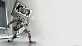 Wallpaper Cartoon Music Tape Robot