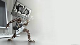 Wallpaper Cartoon Music Tape Robot