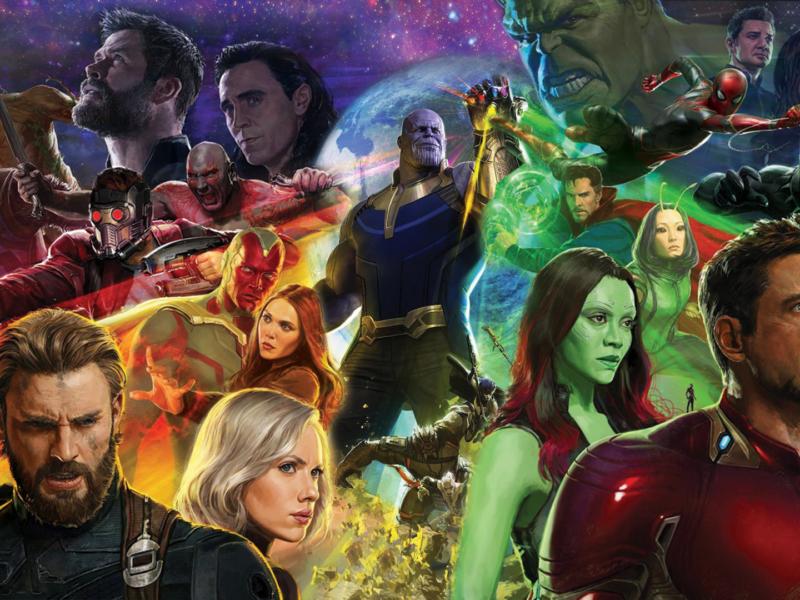 Avengers Infinity War Characters Mash Up Wallpaper Hd
