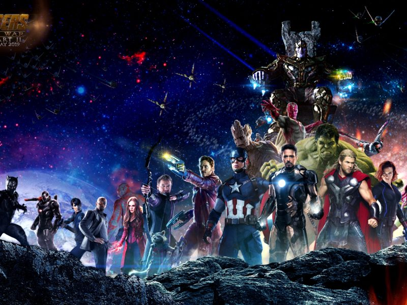 Avengers Infinity War Characters On Space With Thanos Wallpaper Hd