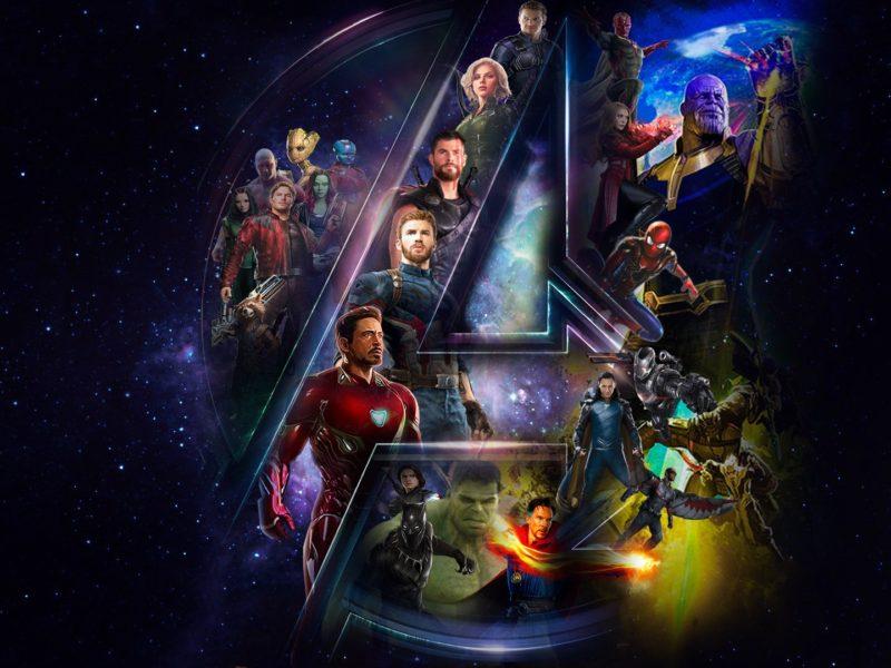 cool avengers infinity war in a logo wallpaper hd download free hd