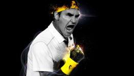 Roger Federer Victory Shout Wallpaper Hd