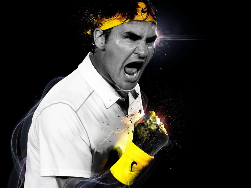 Roger Federer Victory Shout Wallpaper Hd