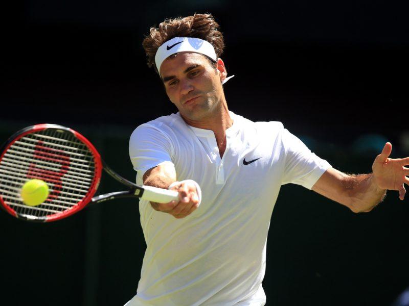 Roger Federer Winning Shot Wallpaper Hd