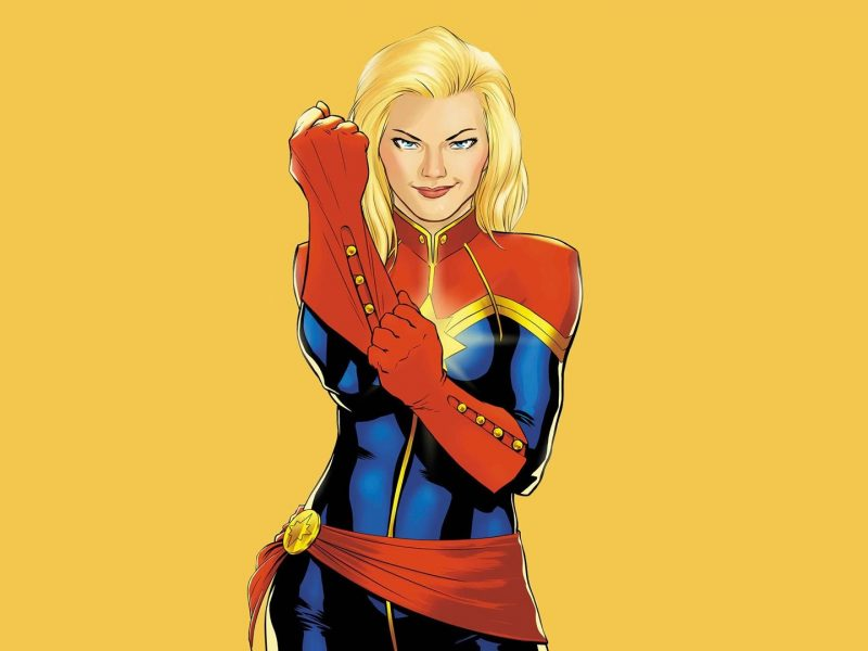 Captain Marvel Wallpaper Cartoon Iphone Android Pc Custom Sizes Available