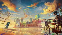 Future Art City And Paint Wallpaper Hd