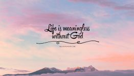 Meaningless Without God Bible Verse Wallpaper Hd