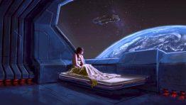 Women In Bed Sci Fi Scene Wallpaper Hd