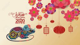 Chinese New Year 2020 With Blossom Wallpapers. Year Of The Rat