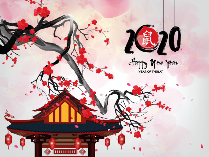 Chinese 2020 New Year Of The Rat Hd Wallpaper