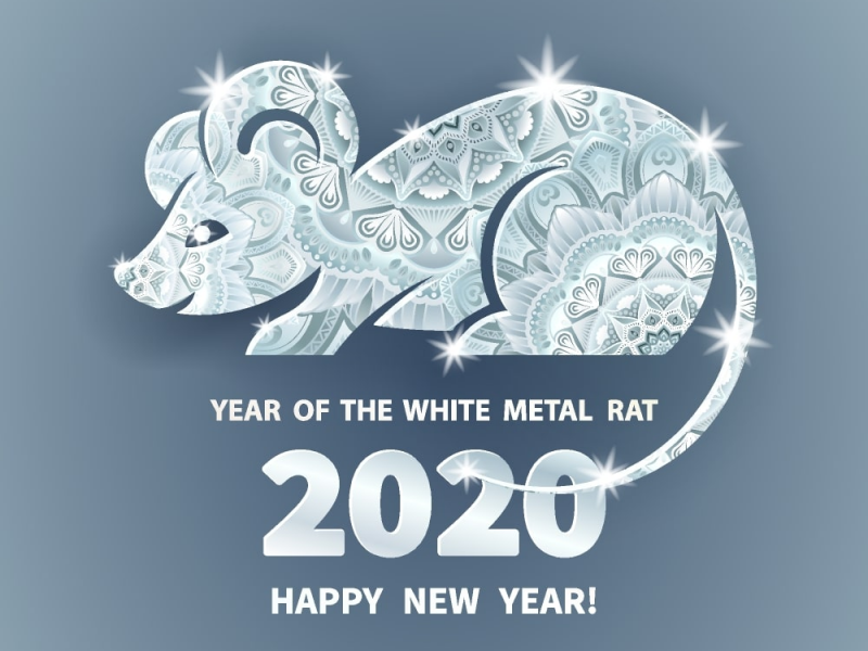 Year Of The White Metal Rat 2020 Chinese New Year