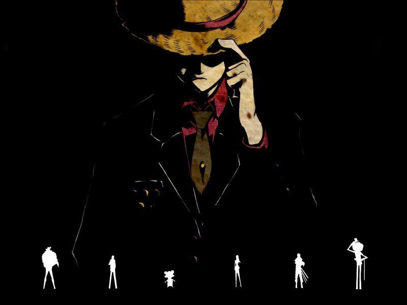 Black Gangster Style One Piece Wallpaper Hd