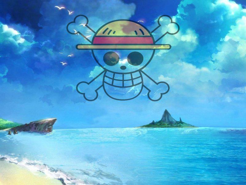 One Piece Logo Beach Wallpaper Hd
