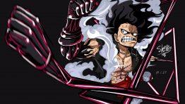 One Piece Monkey D Luffy Gear Four Snakeman Wallpaper Hd