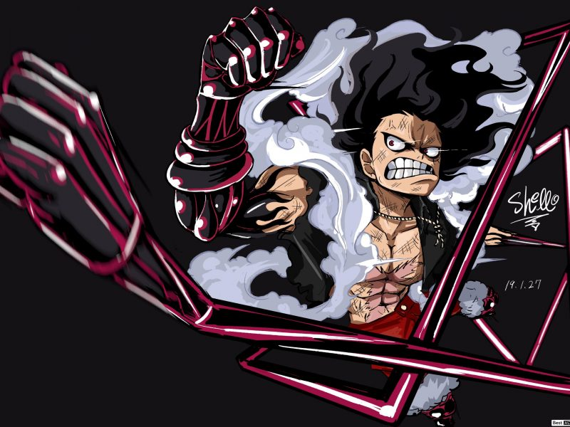 One Piece Monkey D Luffy Gear Four Snakeman Wallpaper Hd