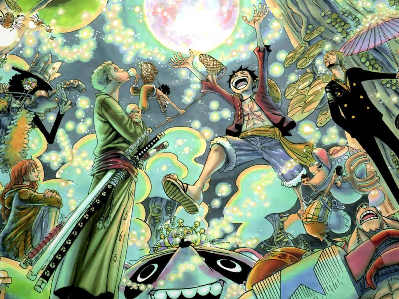 One Piece With Orbs Wallpaper Hd
