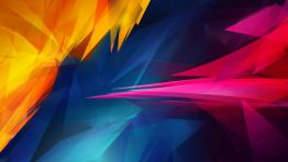 Abstract Yellow Blue Red Wallpaper Hd
