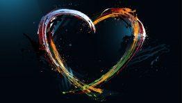 Heart Abstract Black Wallpaper Hd