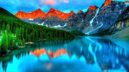Nature Mountain Lake Wallpaper Hd