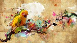 Bird Colorful Artistic Wallpaper Hd
