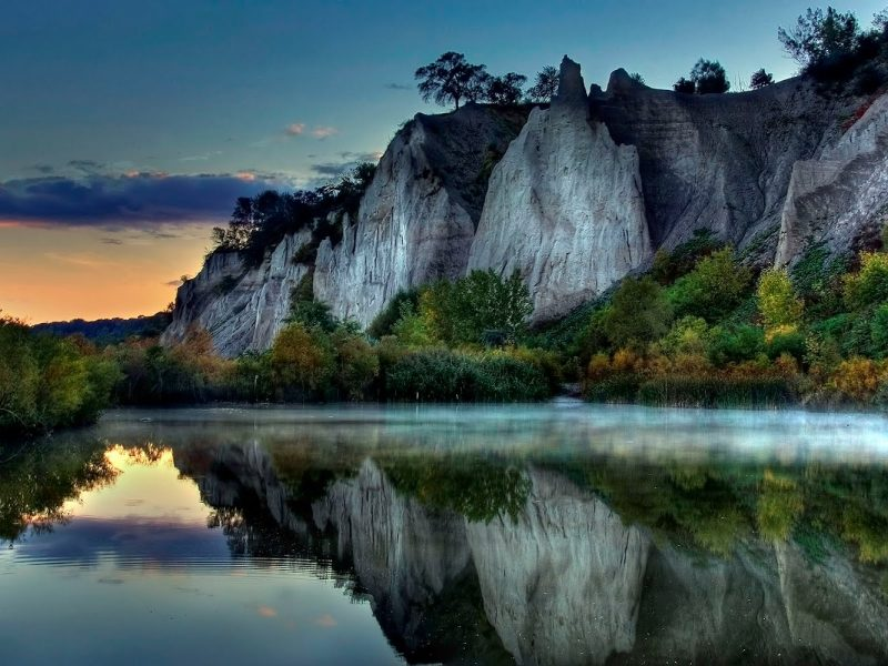 Lake Mountains Treesnature Wallpaper Hd