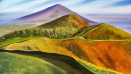 Mountain Paint Artistic Wallpaper Hd