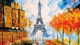 Painting Paris Eiffel Tower Classic Artistic Wallpaper Hd