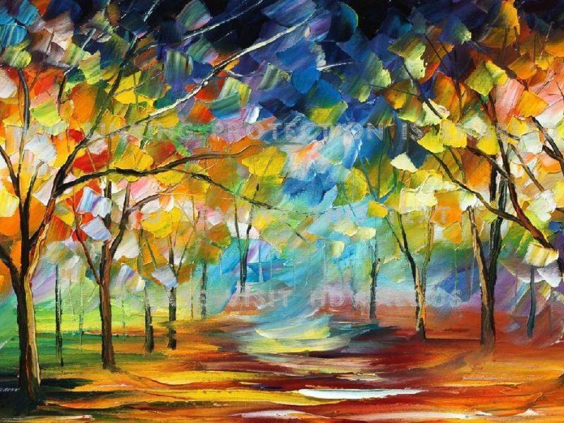 Painting Tree Artistic Wallpaper Hd