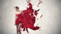 Red Girl Artistic Wallpaper Hd