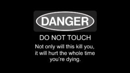 Danger Warning Sign Wallpaper