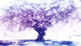 Purple Tree Wallpaper
