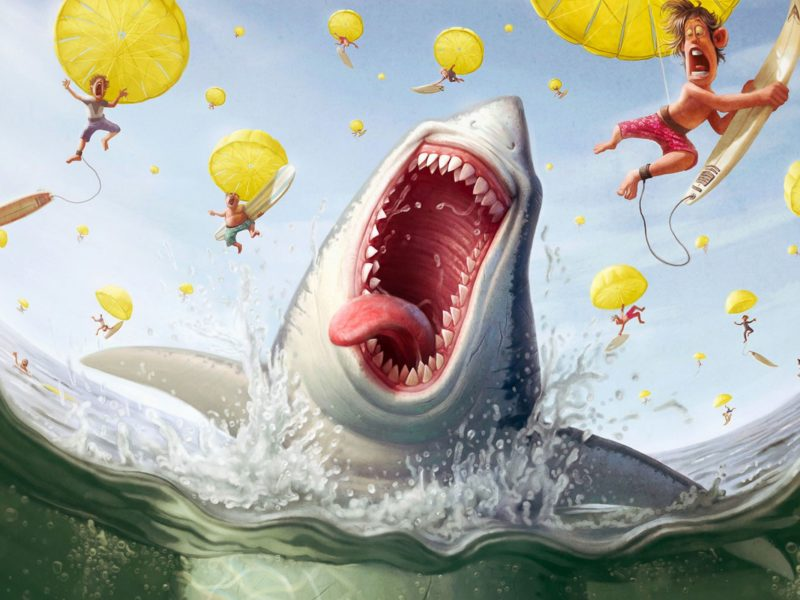 A Shark Feast Wallpaper