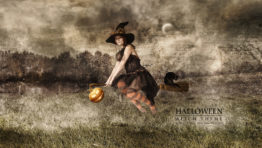 Floating Witch Wallpaper
