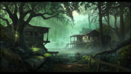 Forest Cabins Wallpaper