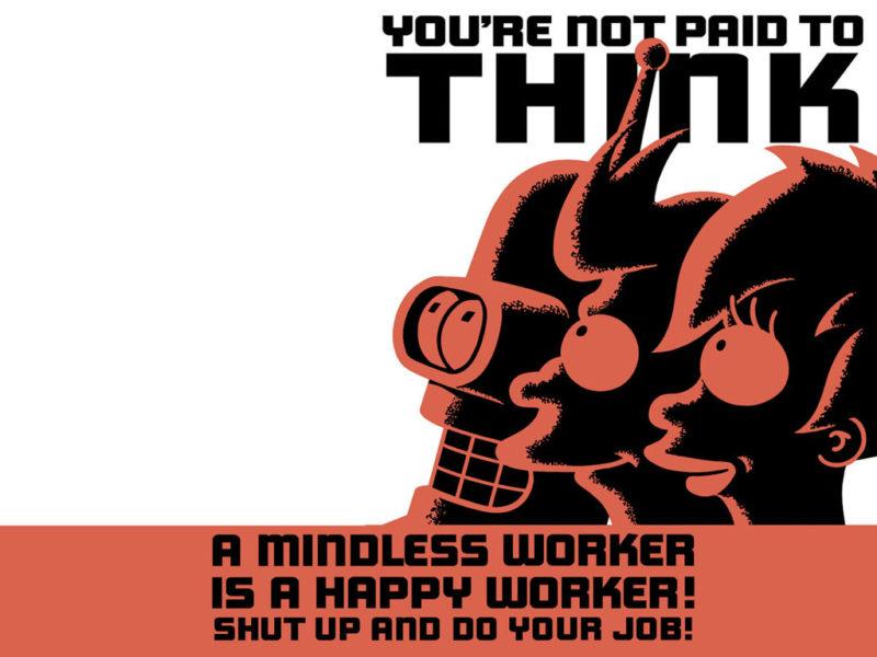 Futurama Propaganda Poster Wallpaper