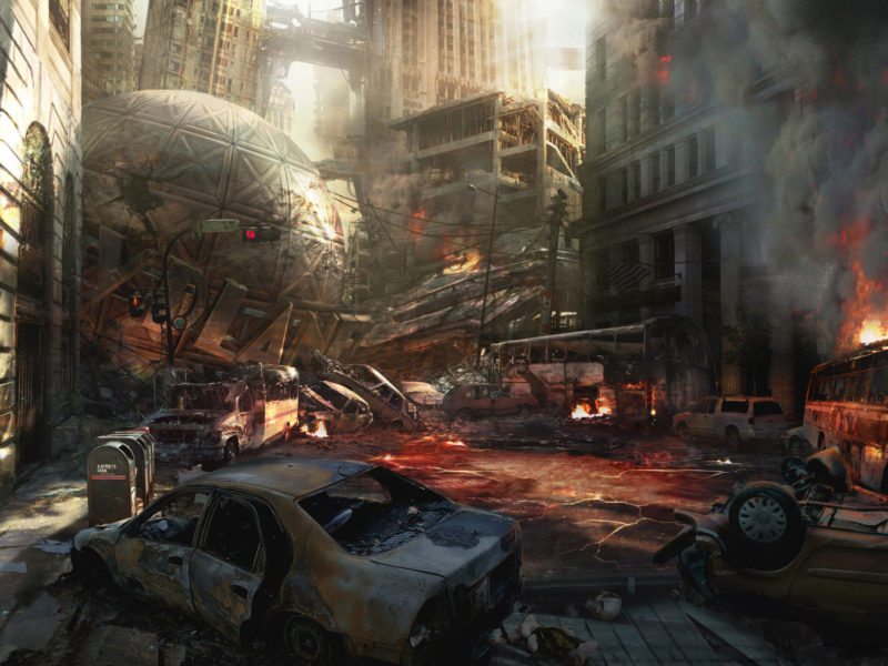Metropolis Destroyed Wallpaper