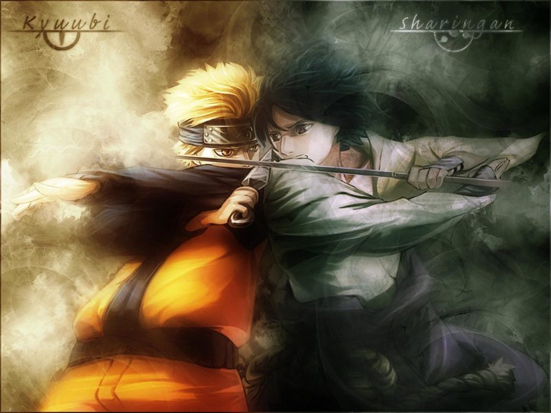 Sasuke And Naruto Fighting Wallpaper